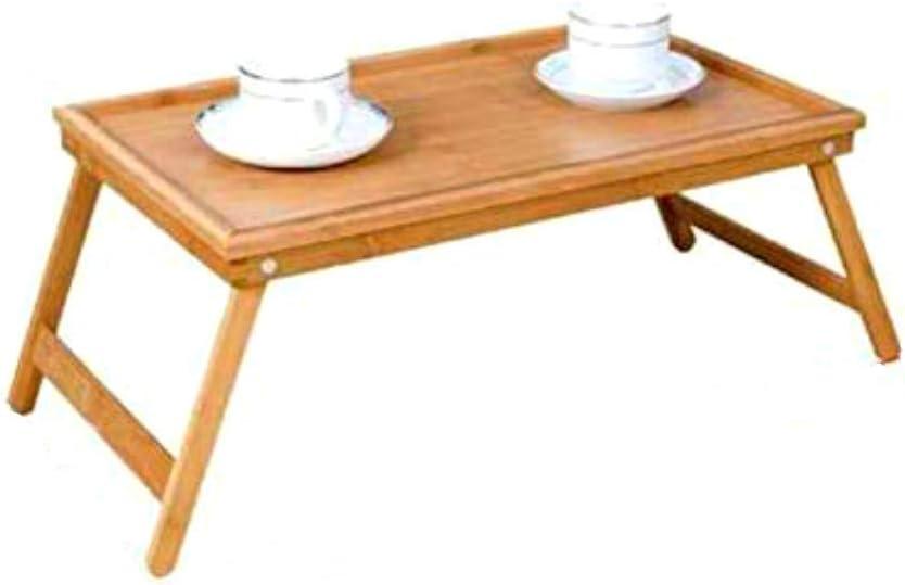 HOOM Bandeja para Cama Plegable, Mesa Desayuno con Patas Plegables Mesa Madera 50 * 30 * 22cm Tablet de Cama Plegable (Bambu)