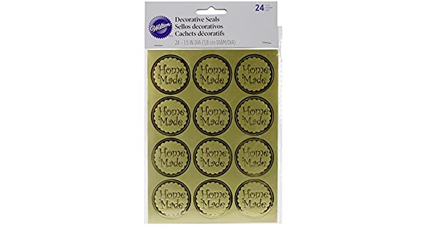 Amazon.com: Wilton Decorative Seals, 1.5-Inch, 24-Pack: Arts ...