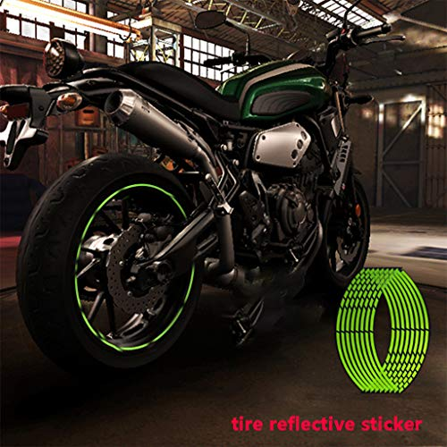 Panel Switch Motorcycle 18 Inch Broken Section Tire Fluorescent Feflective -