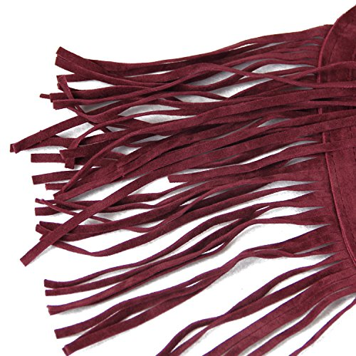 LUI SUI- Valentine's Day Gift Women's Fringed Backpack Tassel Shoulder Bag by LUI SUI (Image #7)