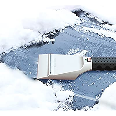 Zento Deals Heated Car Windshield Electric Snow Winter and Non-Scratch Ice Scraper 12 Volt Heated Ice/Snow Scraper for Melting Ice and Snow: Automotive