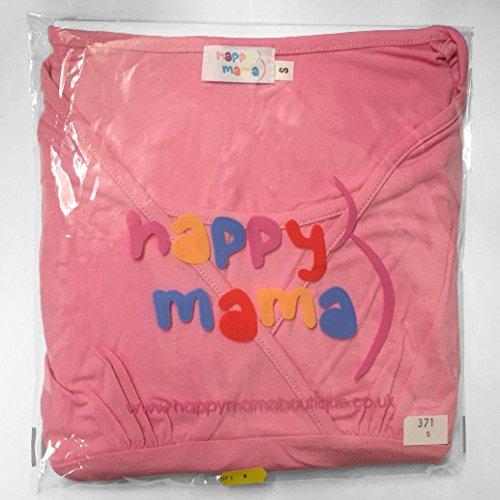 Happy Mama. Para Mujer Camiseta Premamá T-Shirt Elástico Top Mangas Cortas. 999p Carmesí