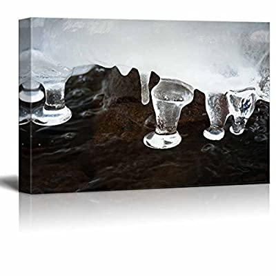 Quality Creation, Incredible Craft, Beautiful Winter Scenery Icicle Nature Beauty Wall Decor