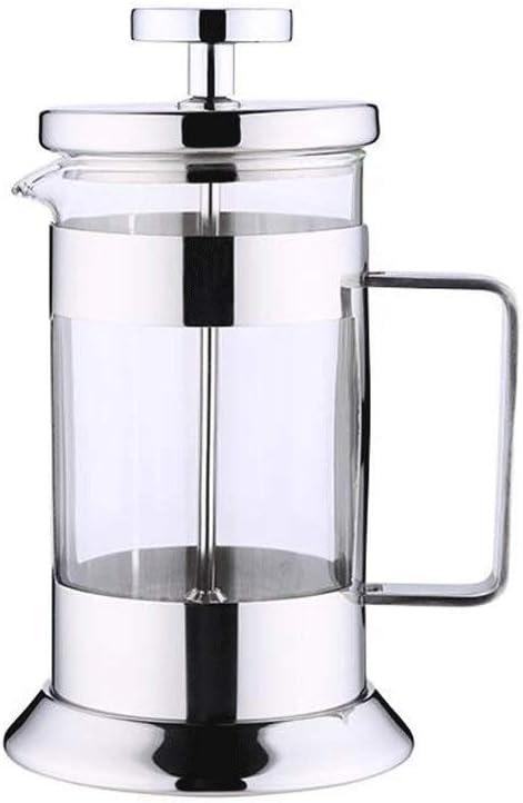 CJVJKN Acero Inoxidable Resistente al Calor Vaso de café Cafetera Hogar Acero Inoxidable Manual Filtro Presión Cafetera Taza de café (Size : 1000ml): Amazon.es: Hogar
