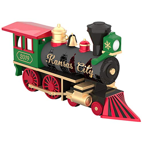 Hallmark Keepsake Christmas Year Dated Next Stop, Holiday 2019 Ornament, Kansas City Train