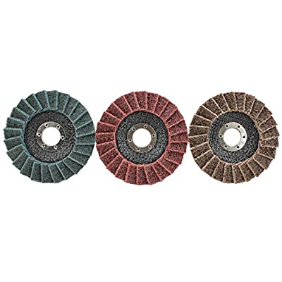 "5 Pack 4-1/2"" x 7/8"" Black Hawk Surface Conditioning Grinding, Sanding, Polishing Flap Discs T29"