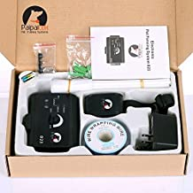 Paipaitek Bury Wire In-Ground Pet E-Fence Underground Electric Fencing Pet Dog System DC Charger Remote Shock E-Fencing with Collar For 1 Dog