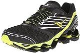 Cheap Mizuno Men's Wave Prophecy 5 Running Shoe, Black/Yellow, 12 D US