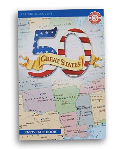 Bendon Reading Discovery Book Level 3 - 50 Great States - Grades 2-4