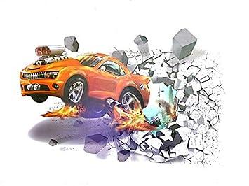 3D Aufkleber wand Auto 3D Wandsticker Wandaufkleber Wandtattoo ...