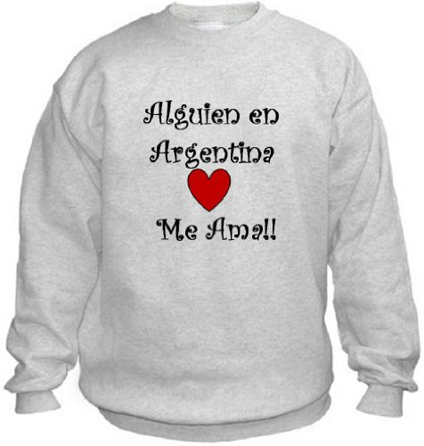Argentine Island Light - ALGUIEN EN ARGENTINA ME AMA - Country-Series - Light Grey Sweatshirt - size XL
