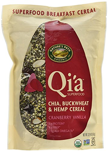 (Nature's Path Qi'a Superfood Cranberry Vanilla Chia, Buckwheat & Hemp Cereal)