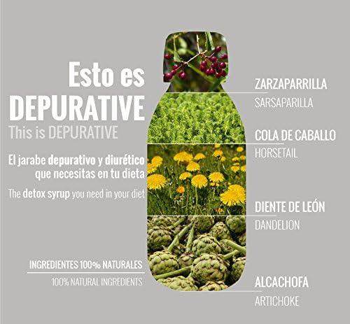 Jarabe depurativo, quemagrasas, eliminación de toxinas, dieta, 100% natural, limpia y depura el organismo,: Amazon.es: Salud y cuidado personal