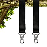 Nowus 10FT Tree Swing Straps Hanging Kit(Set of 2) Holds 2000lbs, with Two Zinc Alloy Carabiners, Easy & Fast Installation for Swing & Hammocks & Disc Swings