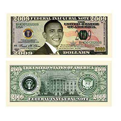 American Art Classics Barack Obama 44th President Collectors 10 Bill Collector Set: One Million Dollar Bill, 2008, 2009, 2010, 2011, 2012, 2013, 2014, 2015 and Michelle Obama Note: Toys & Games