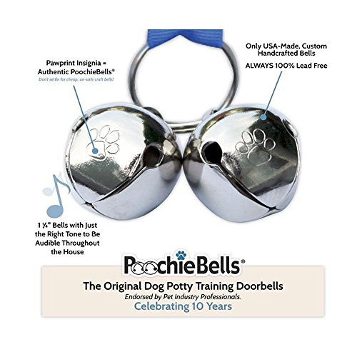 Authentic PoochieBells Premium Leather Edition Housetraining Dog Doorbells - Dark Walnut by PoochieBells (Image #2)