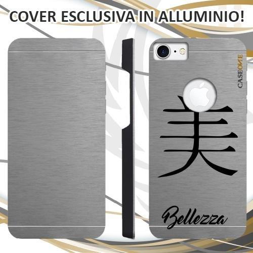 CUSTODIA COVER CASE IDEOGRAMMA CINESE BELLEZZA PER IPHONE 7 ALLUMINIO TRASPARENTE