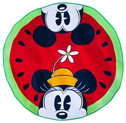 Watermelon Fun Disney Mickey and Minnie Mouse ROUND Beach Towel (Round Mouse Mickey)