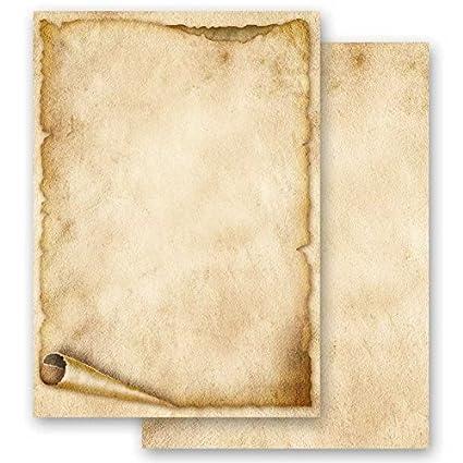 Papel de carta – Hojas estampadas ROLLO DE PAPEL VIEJO 50 hojas DIN A4