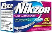 NIKZON Tratamiento para las HEMORROIDES,caja con 40 tabletas masticables, su efecto antiinflamatorio e ingredi