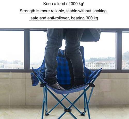 Chaise Longues Haut Fauteuil Camping avec appuie-tête, portable compact for l'extérieur Camp, Voyage, Pique-nique, Festival, randonnée pédestre, randonnée