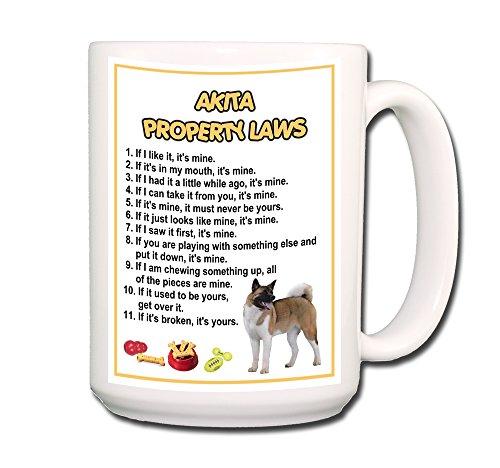 Akita Property Laws Coffee Tea Mug 15 oz Funny
