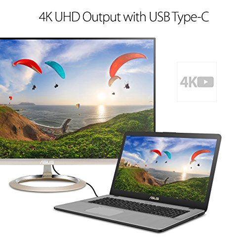 "Asus N705UDEH76 17.3"" Laptop Intel Core i7 16GB Memory NVIDIA GeForce GTX 1050 1TB Hard Drive + 256GB Solid State Star gray"