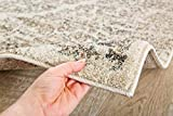 Persian-Rugs 8x10 4620 Distressed Beige 7'10x10'6