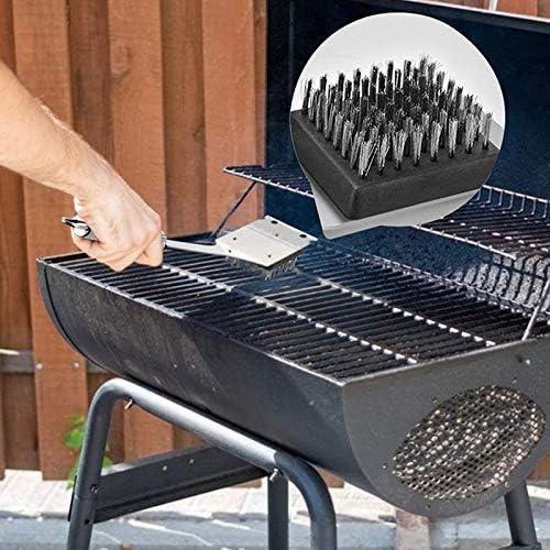 Dcolor Accessoires de Gril Ensemble D'Outils de Barbecue, Kit D'Outils de Grillage en Acier Inoxydable Outil D'Ustensile de Barbecue avec de Gril 7 PièCes SéRies