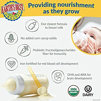 Earth's Best Organic Infant Powder Formula With Iron, Omega-3 Dha & Omega-6 Ara 23.2 Ounce (Packaging May Vary) 3