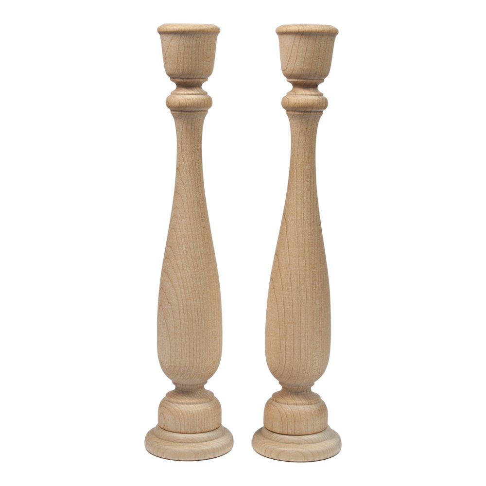 Unfinished Candlesticks 11 Inch, Unfinished Wooden Candlestick Holder - Bag of 2