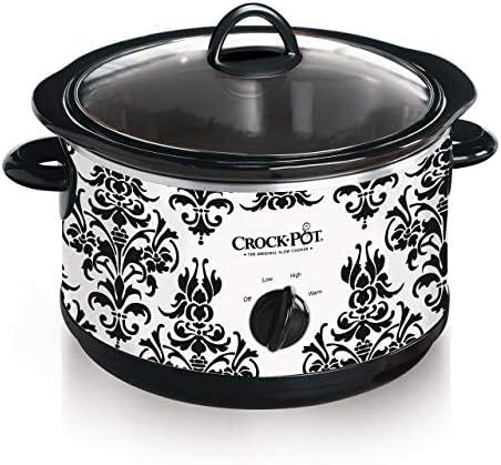 4.5-Quart Manual Slow Cooker, Damask Pattern Exclusive