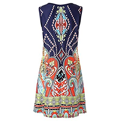 Women Dress-Han Shi Summer Casual Floral Printed Swing Sundress with Pocket at  Women's Clothing store