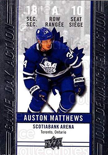 Auston Matthews Hockey Card 2018-19 Tim Hortons Game Day Action #10 Auston Matthews