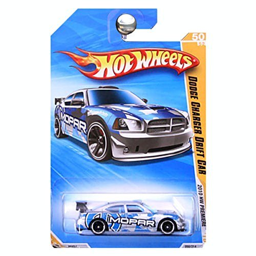 2010 HOT WHEELS NEW MODELS 43/44 SILVER & BLUE DODGE CHARGER DRIFT CAR