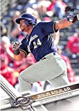 2017 Topps Series 2 #503 Jesus Aguilar Milwaukee Brewers Rookie Baseball Card