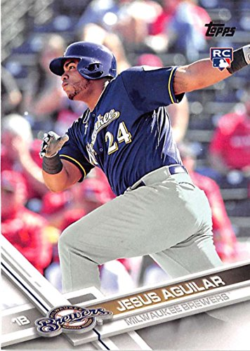 2017 Topps Series 2 #503 Jesus Aguilar Milwaukee Brewers Rookie Baseball Card (Brewer Series)