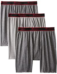 Mens 3-Pack Active Performance Long Leg Boxer Briefs