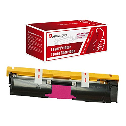 Awesometoner Compatible 1 Pack Toner Unit For QMS 2500 M 1710587-006, Konica Minolta QMS Color Magicolor 2500W, 2530DL, 2550 High Yield Magenta 8000 Pages