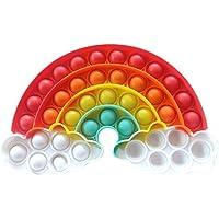 Dan&Dre Brinquedo de descompressão de arco-íris, brinquedo sensorial, bolha, autismo, TDAH, necessidades especiais…