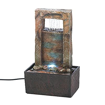 Zingz & Thingz Cascading Water Tabletop Fountain (Home 10016894 (Office, Spa, Weddings, Party Or Special Occasions), Multicolor