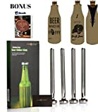 4 Beer Bottle Chiller Sticks 2 Craft Beer Neoprene Insulated Zipper Beer Bottle Sleeve Covers Koozies :Keep Beer Cold Longer : Stainless Steel Beer Cooler Stick