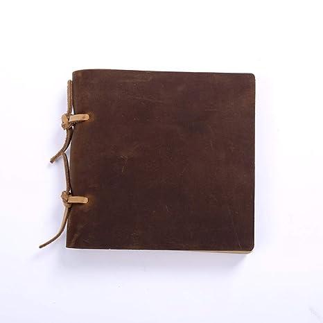 GQQ Vintage Cubierta De Cuero Cuaderno(A6,A5),en Blanco ...