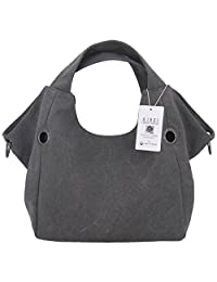 [KIREI obsession] Women's Canvas Bucket Shoulder Bag, Simple, Casual, Large Capacity [5 Colours]