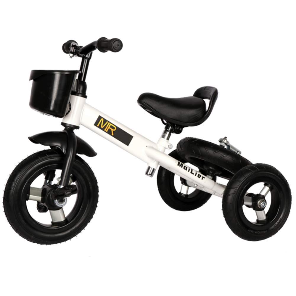 GSDZY - 3 In1 Kinder Dreirad, Verformt Werden Kann, Aluminiumlegierung Rad Soft-Rad, 3-6years,Weiß Weiß