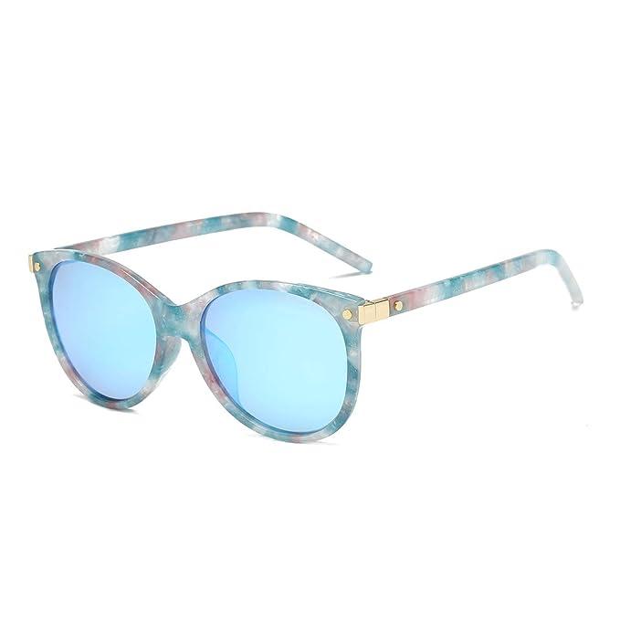 CHEREEKI Gafas de Sol Mujer, Gafas de sol Clásicas de Estilo Vintage Lentes Espejadas con Protección UV400