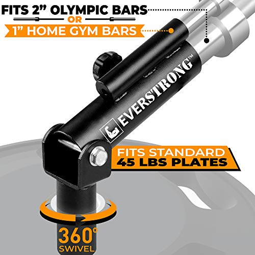 T Bar Row for One Inch and Two Inches - Olympic Bars Gym Equipment for Landmines Barbells Attachment for Deadlift Leg Squat Exercises - Widest 360 Degree - Heavy Duty Steel for Home Fitness Workouts