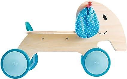 eveil et jouet en bois elephant trotteur