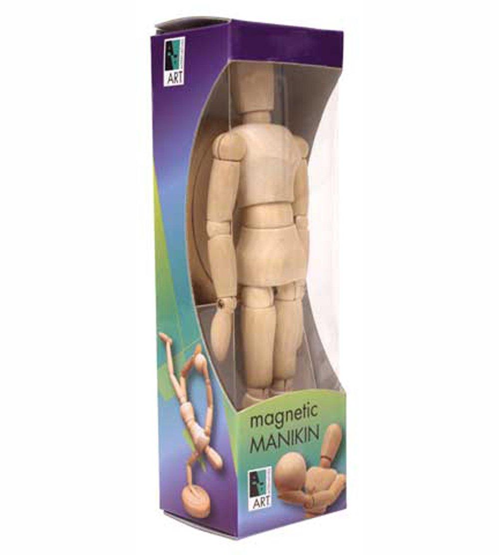 Magnetic Wood Manikin (7-3/4 Inches Tall) Art Alternatives AA3010