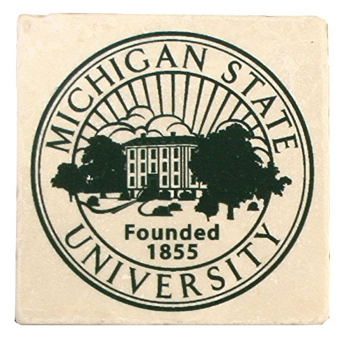 Legends Sports and Games NCAA Michigan State Spartans University Seal Stone Coaster